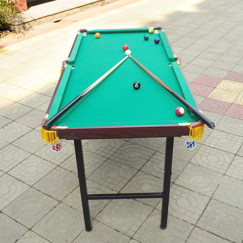 Table Top Pool Set & Table Top Pool Set Hard Billiard Cover Wooden