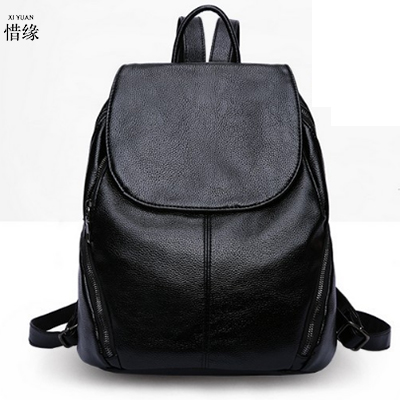 luxury fashion women PU Leather Mochila Escolar School Bags For Teenagers Girls big capacity student backpacks