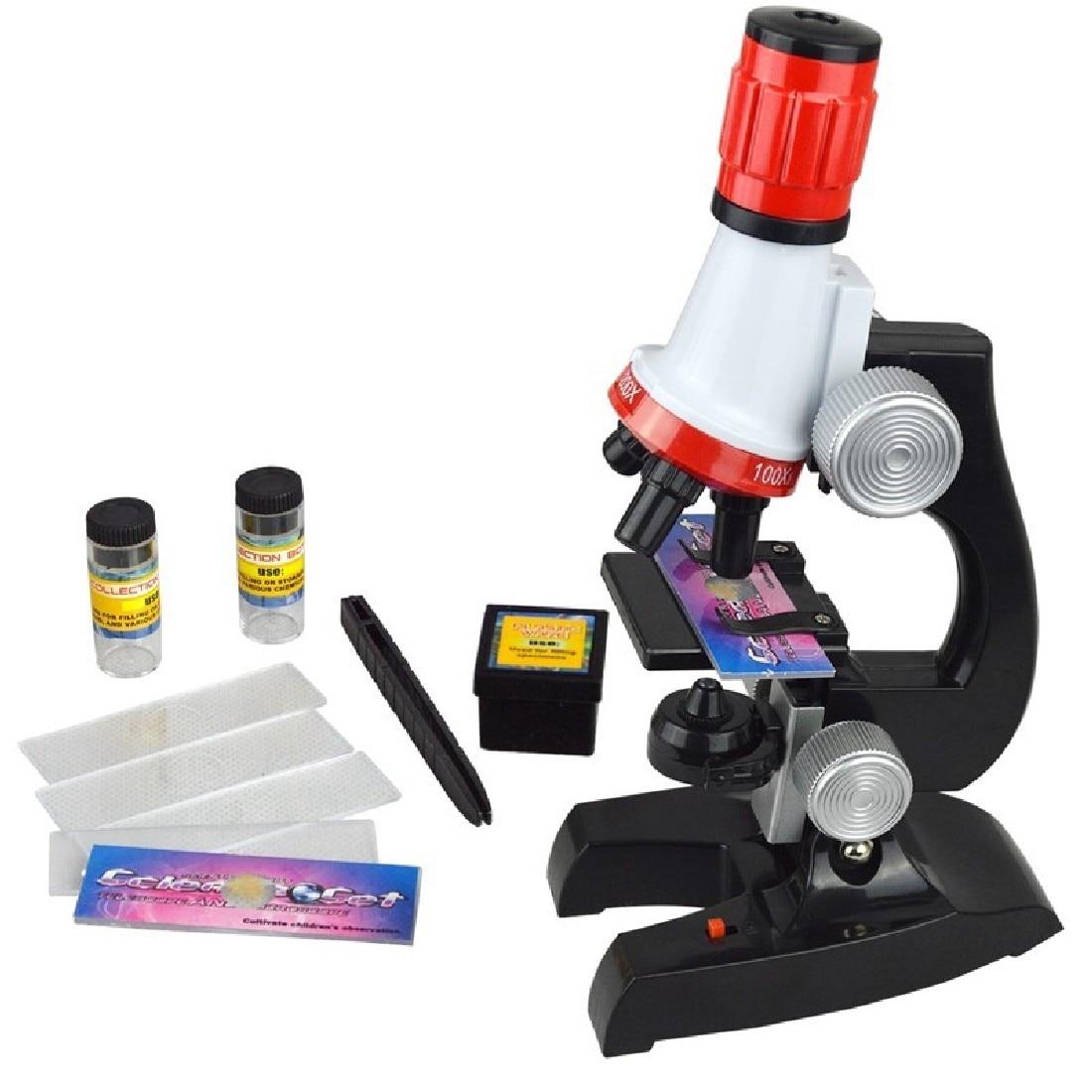 1 stücke Design Mikroskop 100X 400X 1200X Beleuchtet Monokulare Biologisches Mikroskop Für Kinder Bildung Spielzeug Werkzeug