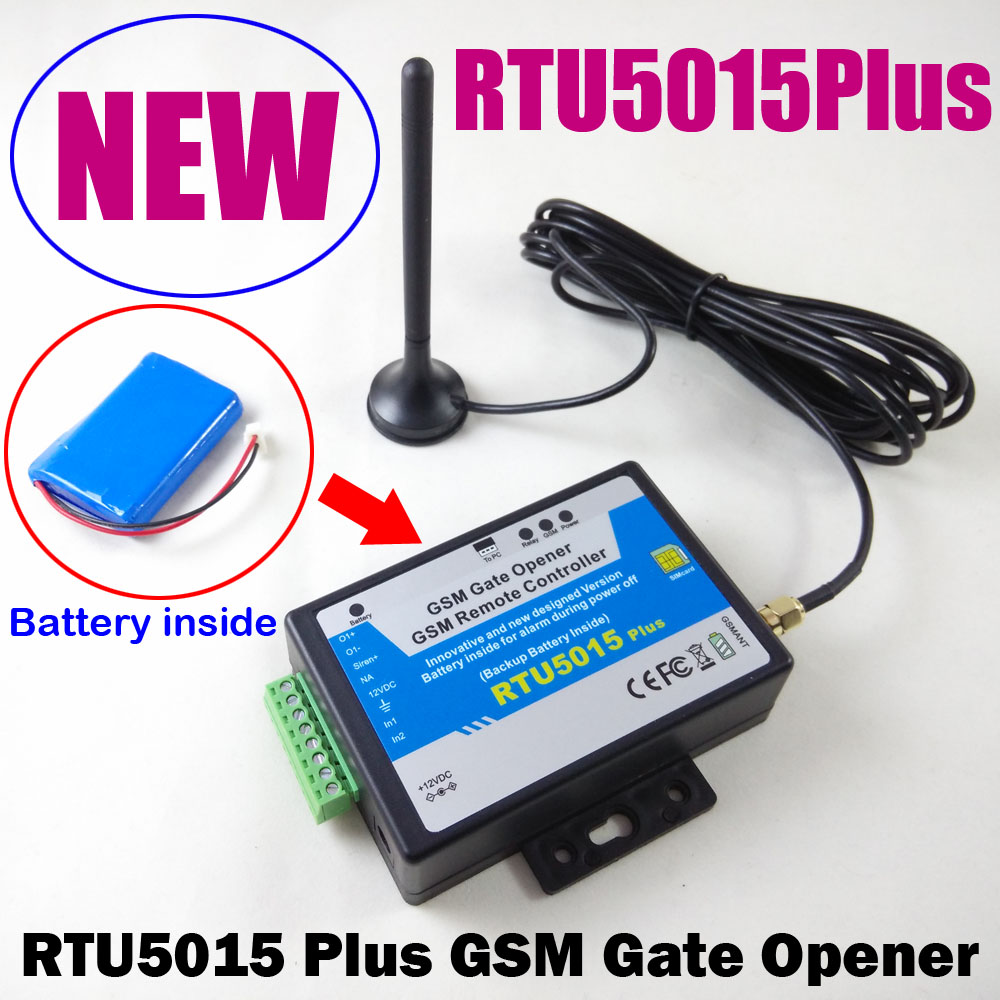 RTU5015 Plus GSM Gate Opener Relay Switch Remote Access Control Backup battery for power failure alarm with app support siemens lc98ga542