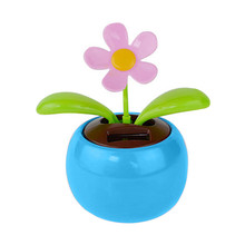 Car Decoration Solar Powered Dancing Flower Swinging Animated Dancer Toy Sunflower Car Decoration New Car Funny Toy 4.0