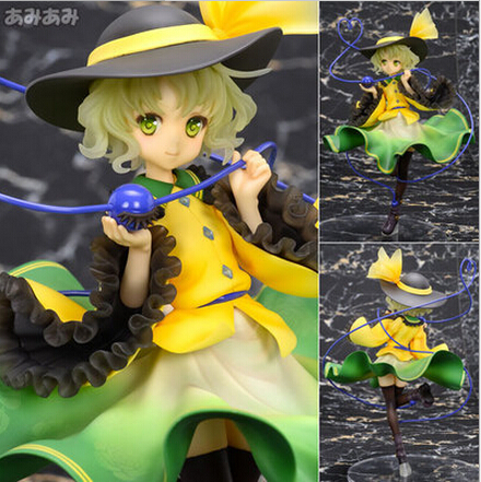 NEW hot 20cm TouHou Project Komeiji Koishi action figure toys collection doll toy Christmas gift with box 2016 new short bobo haircuts wigs silver white strike the blood date a live tobiichi origami touhou project youmu konpaku