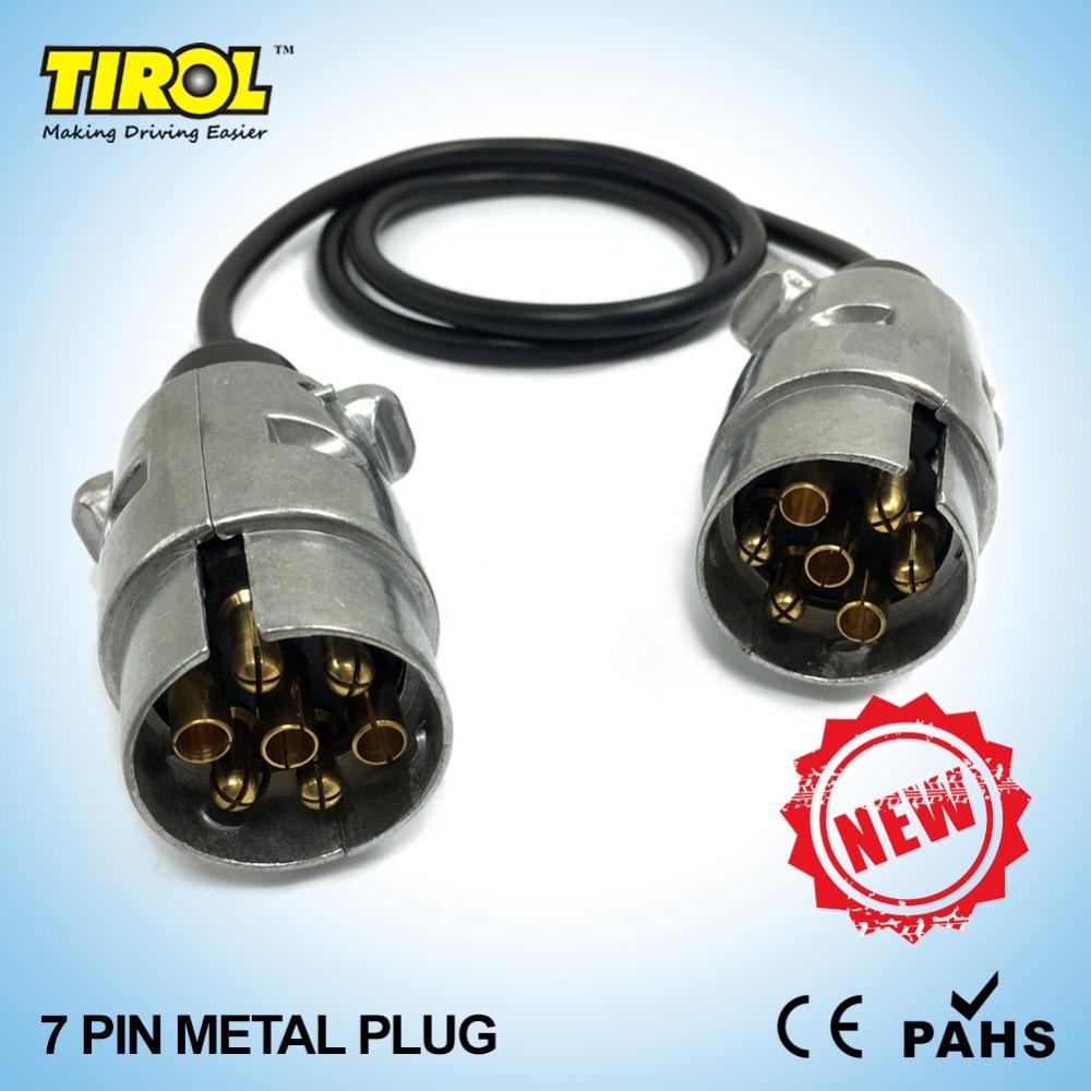 Tirol 7 pin spina del metallo trailer cablaggio del connettore del cavo  tipo 2x7 pin spine 82 cm t23488b 12n 39a0aa89fb7