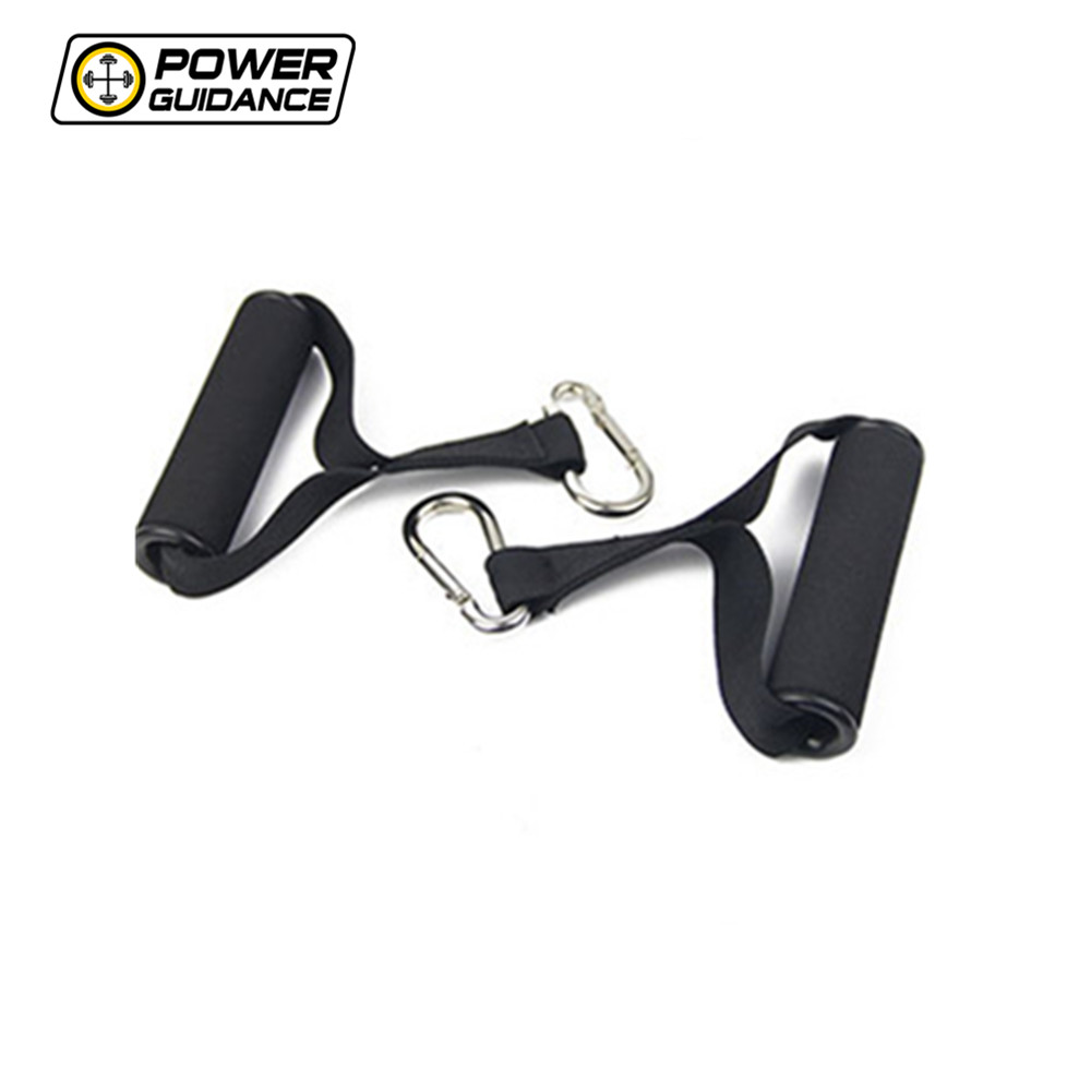 POWER GUIDANCE A Pair Of Resistance Bands Handles For Strength Training With Foam Handle Metal Buckles