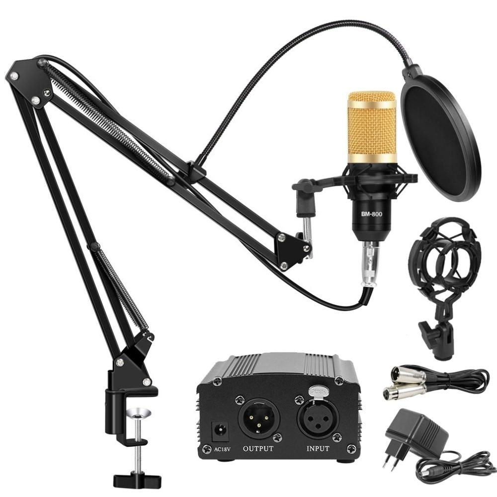 Professional Bm 800 Microphone Studio USB Condenser Microphone Kits Set Karaoke Mikrofon For Computer/Laptop/PC Sing Recording