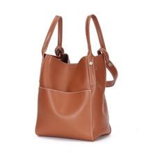 High quality split leather Bucket Bag High capacity Shoulder Bag Luxury Handbags Women Bags Designer Crossbody Bags For Women недорго, оригинальная цена