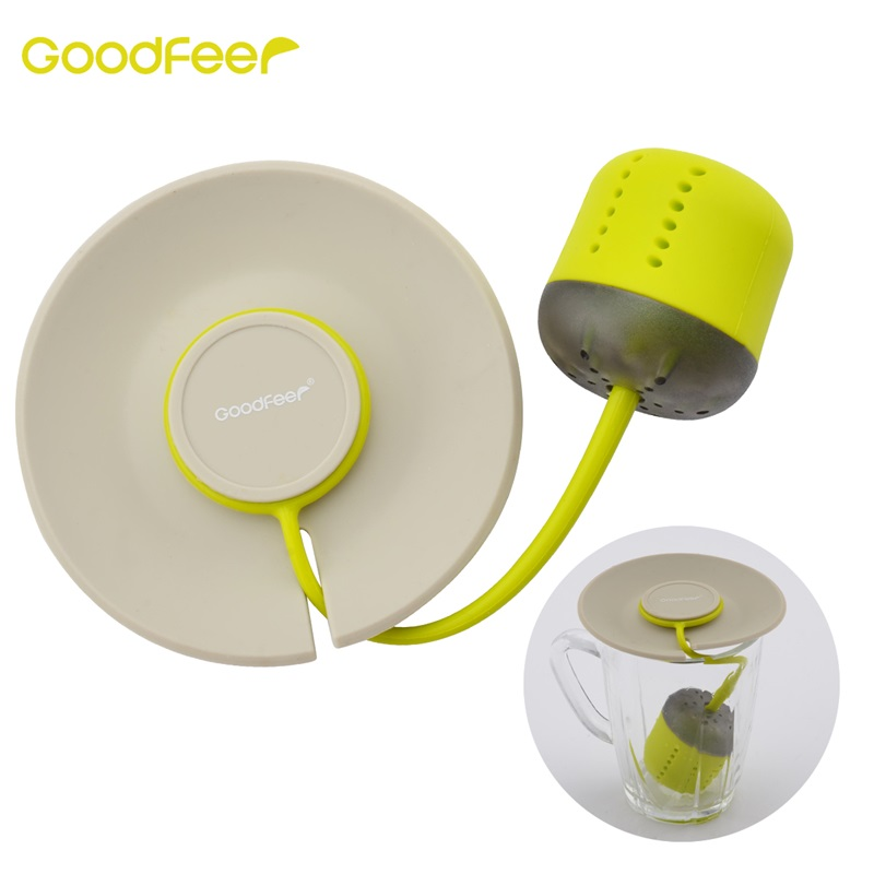 Goodfeer Silicone Tea Infuser Loose Leaf Strainer With Lid Herbal Filter Tea Ball Infuser For Drinking Coffee Tea Accessories