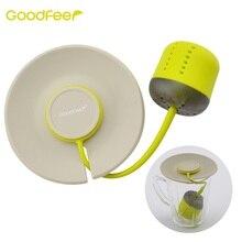 Goodfeer Silicone Tea Infuser Loose Leaf Strainer With Lid Herbal Filter Tea