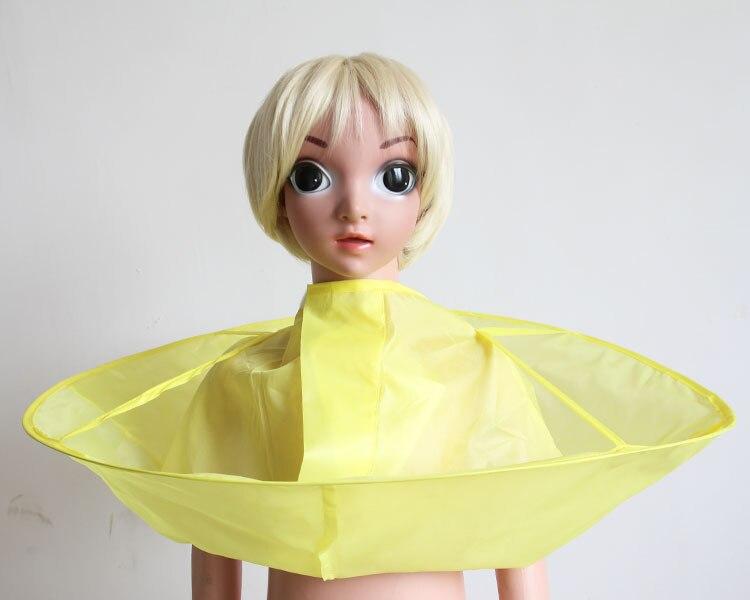 Плащ для стрижки волос накидка-зонтик салон водонепроницаемый детский домашний парикмахерский для детского парикмахера дизайн платья парикмахеров - Цвет: Yellow