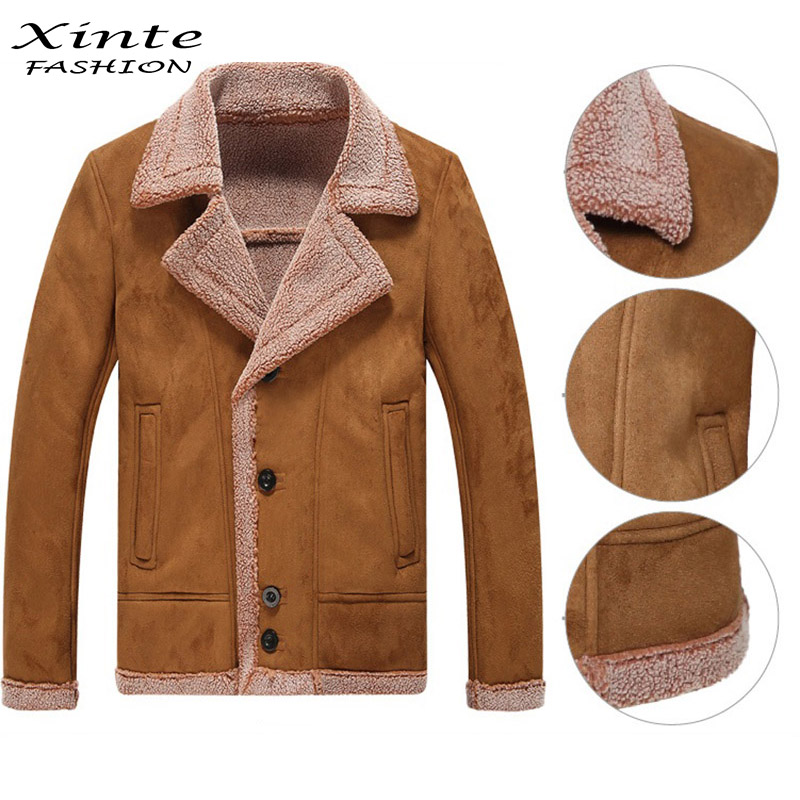 Popular Faux Shearling Coat Men-Buy Cheap Faux Shearling Coat Men ...