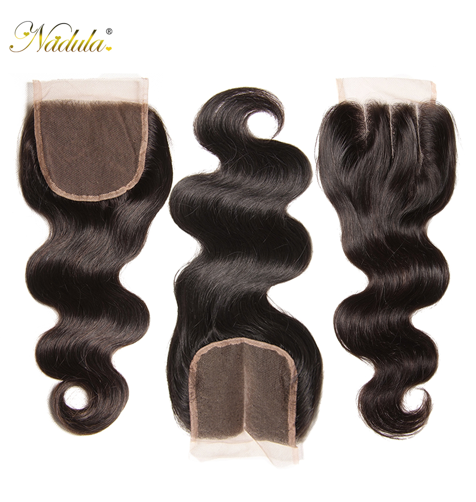 HTB10a.QaIvrK1Rjy0Feq6ATmVXaZ Nadula Hair Brazilian Body Wave Bundles With Closure 4*4 Lace Closure Brazilian Hair Weave Bundles With Closure Human Remy Hair