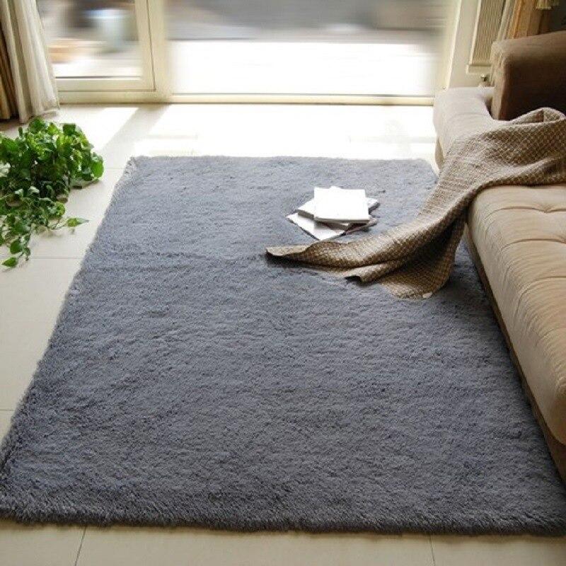 Urijk Soft Living Room Mats Shaggy Carpet Living Room European Home Plush Floor Rugs Fluffy Mats Kids Room Faux Fur Area Rug