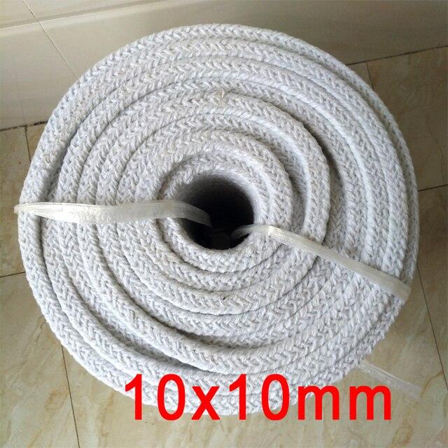 Керамическая волоконная упаковка 10 мм x 10 мм, алюминиево силикатная волоконная печь для герметизации двери противопожарной двери, герметичное уплотнение из алюмосиликата