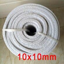 10mm x 10mm ceramic fiber packing alumina silicate fibre furnace door sealing fire door seal aluminosilicate stuffing seal