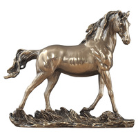 Horse Statue Bronze Horse Art Sculpture Abstract Animal Figurine Resin Crafts Home Decoration Accessories Wedding Gift R1378