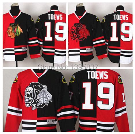 76a444a37 Authentic Chicago Blackhawks Split Jerseys 19 Jonathan Toews Split Jersey