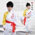 2017 Новый Дети Ушу Производительность Практика Cosutume Тайцзи Китайский Традиционный Костюм для Мальчиков Девочек Высокое Качество Бесплатная Доставка