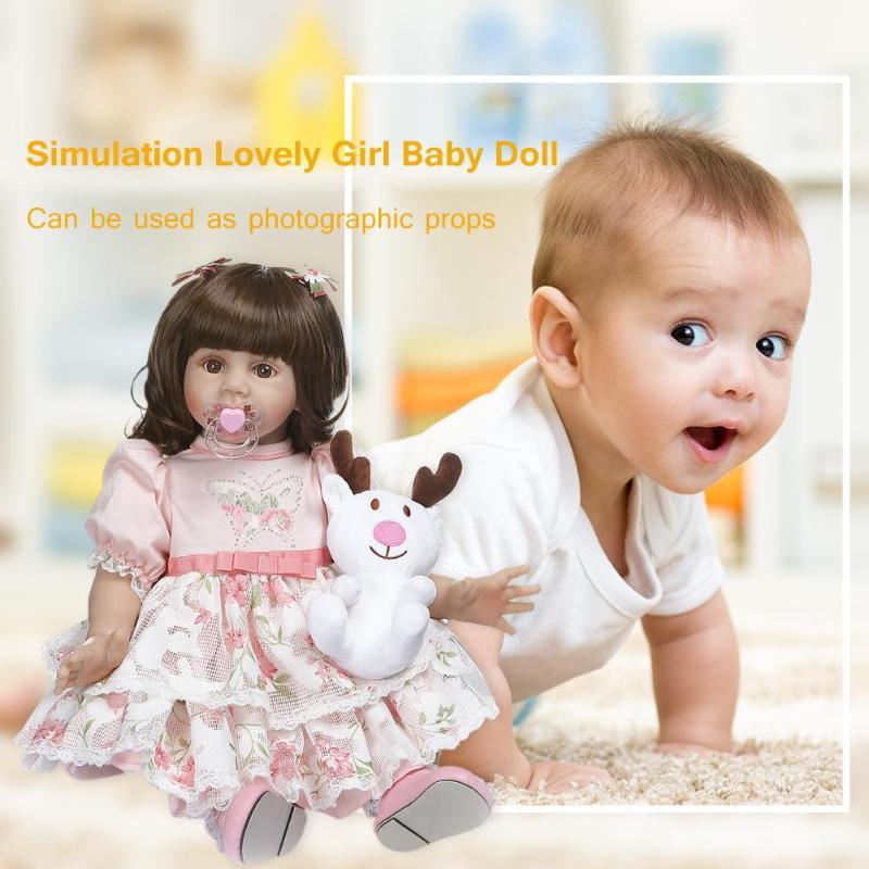 NPK 60 см моделирование прекрасная Девочка Кукла Новорожденный Возрожденный игрушка подарок Детская игрушка на день рождения - 5