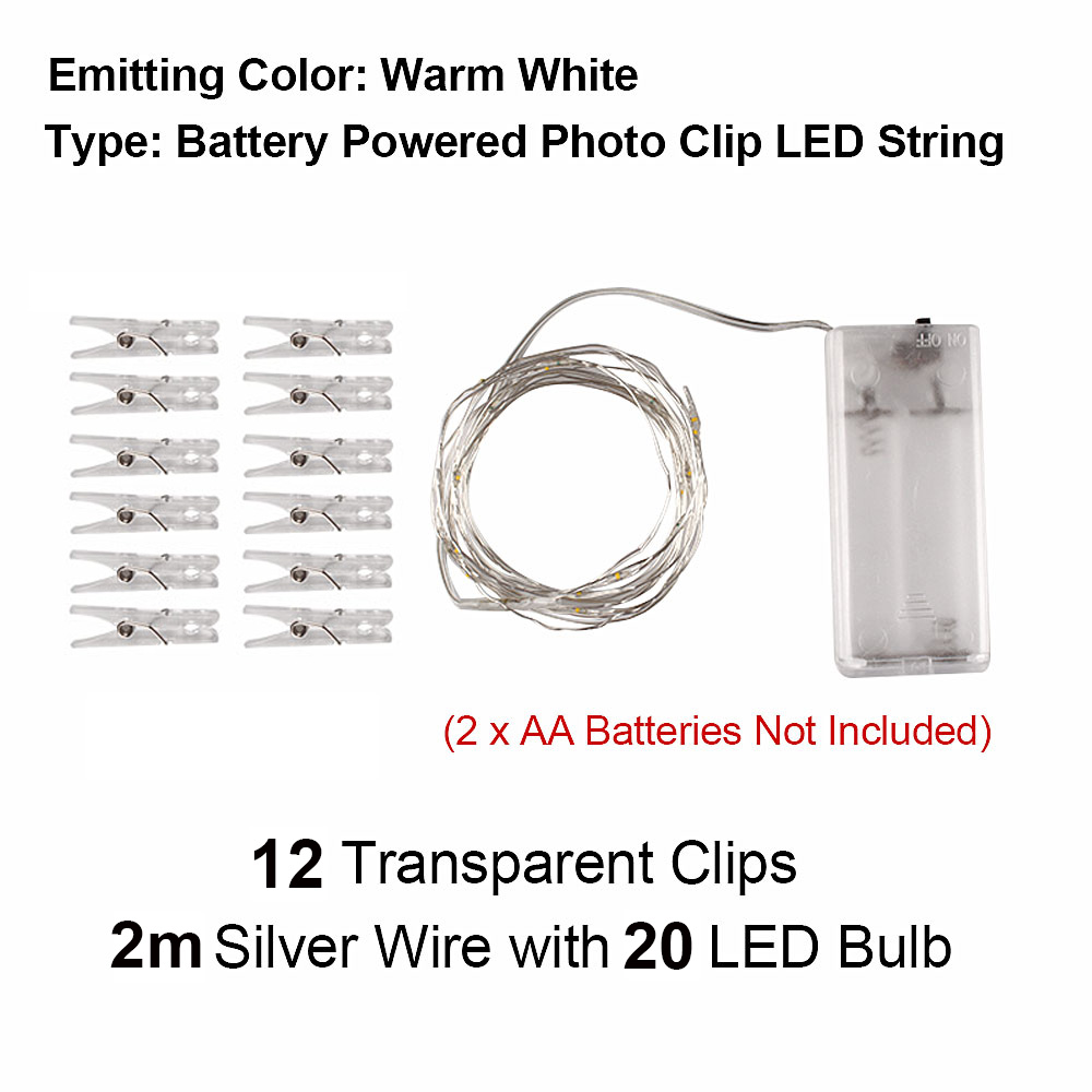 5M10M USB LED Light String Christmas Garland for Photo Clip Fairy String Lights Battery Powered Copper Wire Lamp Outdoor (6)