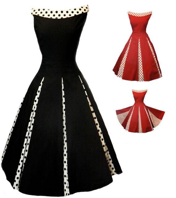 ABENDKLEID 50\'S Rockabilly Dress Hawaiian Print Chifon Dress ...