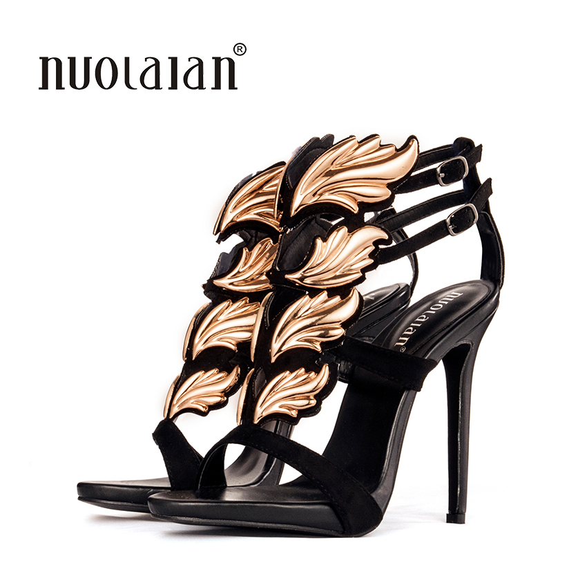 Damenpumps Plattform Schuhe Damen Pumps Blatt Flamme Gladiator Sandale Schuhe Partei Kleid Frau Lackleder High Heels Frauen Sandalen