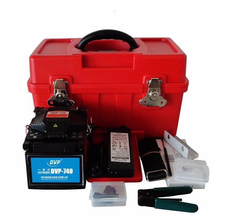 2017 DVP-740 Mini FTTx Colleuse Boîte à Outils Professionnel Machine De Soudage de Haute Qualité Fiber Optique Fusion Colleuse