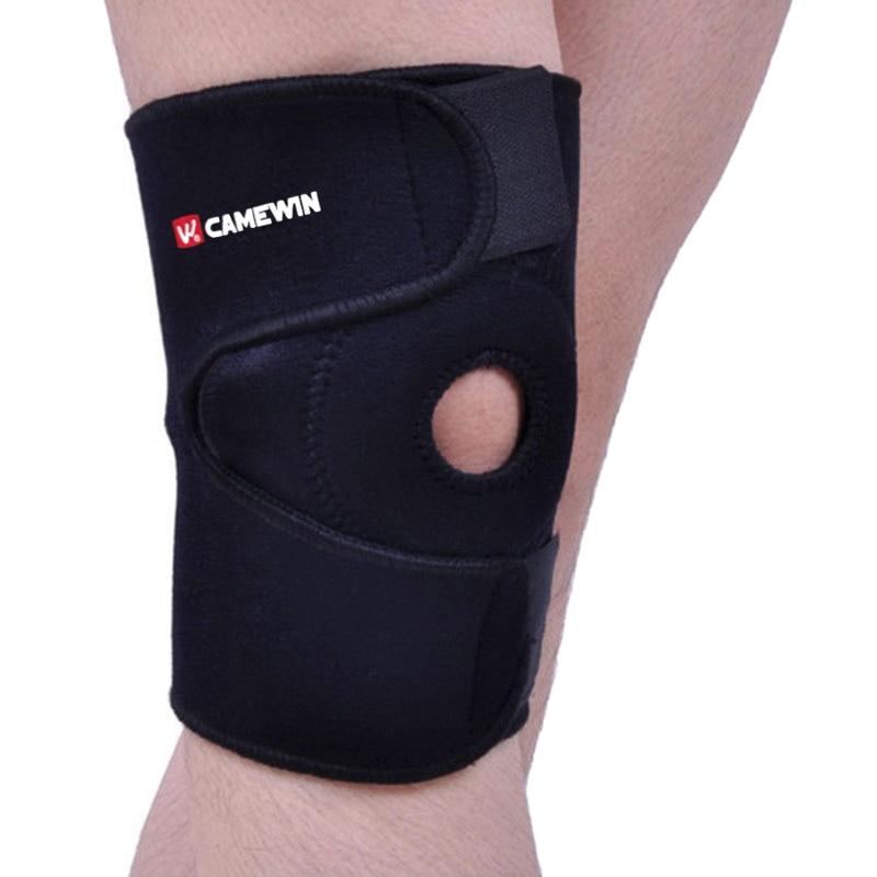 1 pieza protector de rodilla ajustable elasticidad transpirable rodilleras Preventivo aliviar la artritis lesión vendaje deportes rodilla guardia