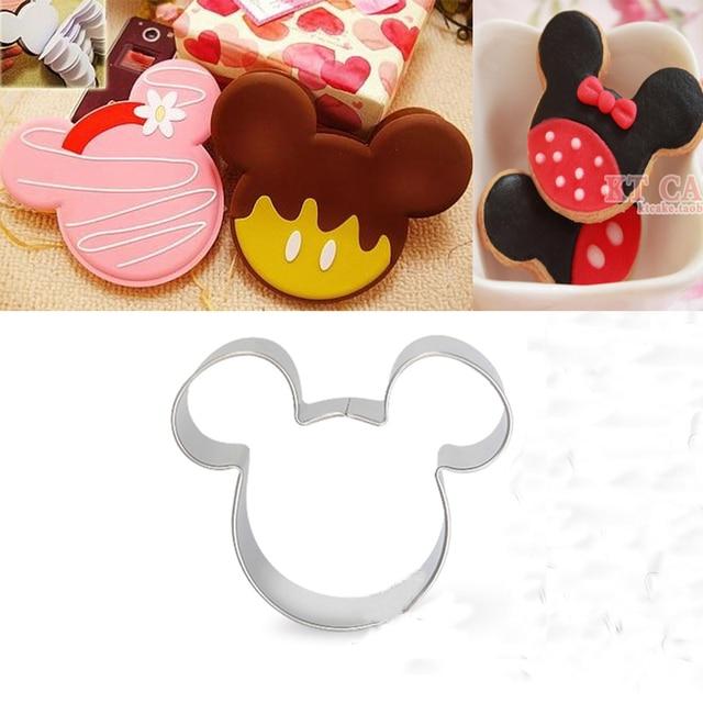 Dessin animé Minnie souris emporte-pièce métal Reposteria Fondant gâteau décoration outil pâtisserie Fruit Cupcake Topper