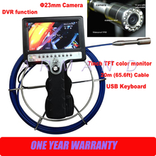 цена на Handheld Pipe Drain Inspection Camera 8GB SD card 710DNK-SCJ underground Pipeline Inspection Industrial Endoscope DVR function