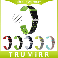 Quick Release Silicone Rubber Watchband Stainless Steel Buckle Wrist Strap Universal 17mm 18mm 19mm 20mm 21mm