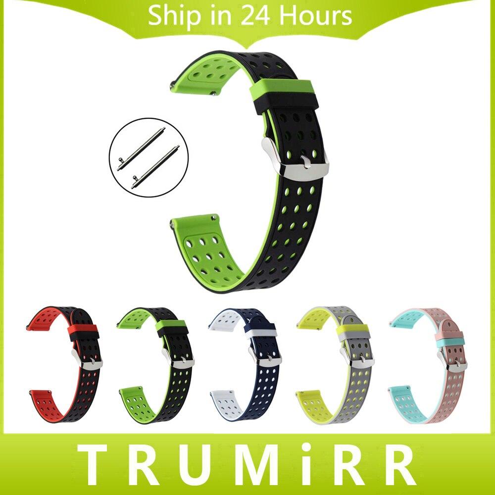 Gomma di Silicone Cinturino A Sgancio rapido Universale Watch Band Cinturino Sportivo Da Polso Bracciale 17mm 18mm 19mm 20mm 21mm 22mm 23mm 24mm