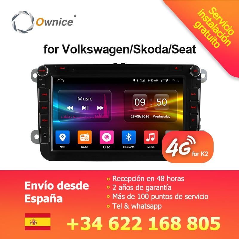 4g SIM LTE Réseau Ownice C500 G10 Octa 8 Core Android 8.1 2g RAM 2 Din Voiture DVD GPS Navi Radio Lecteur Pour VW Skoda Octavia 2