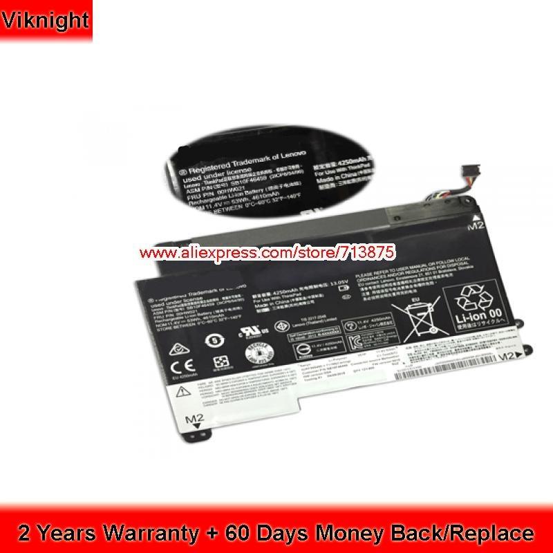 Genuine 11.4V 53Wh Laptop Battery for Lenovo ThinkPad Yoga 460 Laptop SB10F46459 genuine laptop battery for lenovo sb10j78998 01av401