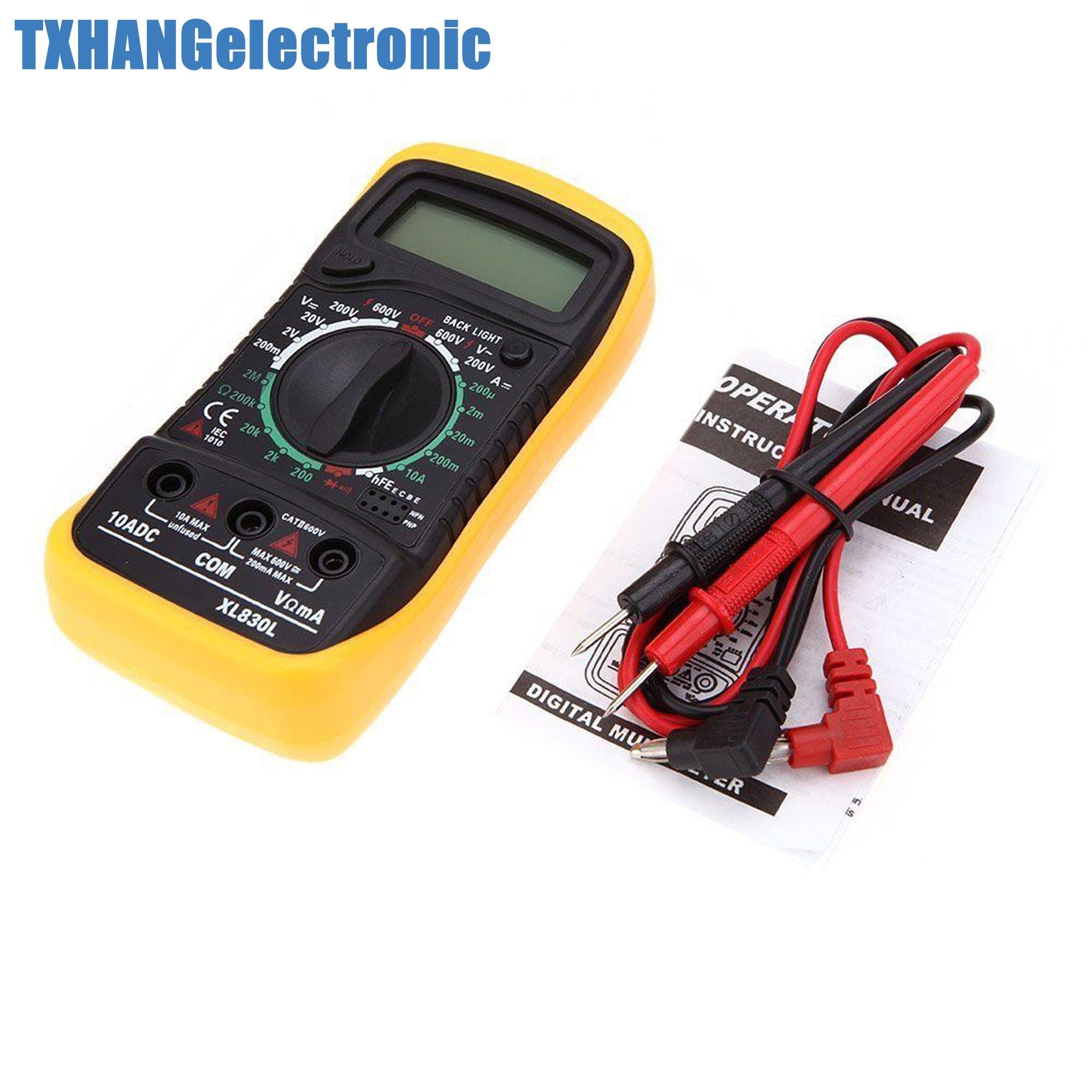 Digitale XL-830L LCD Multimeter Voltmeter Amperemeter Ohmmeter OHM VOLT Tester