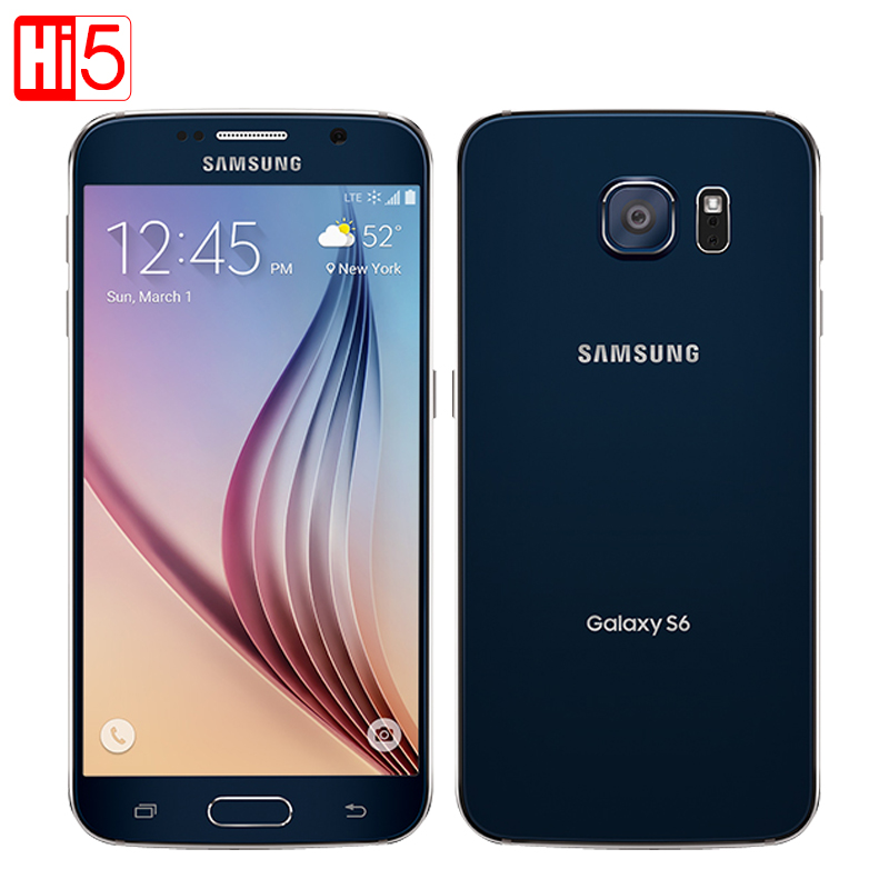 Déverrouiller Samsung Galaxy S6 G920F mobile téléphone Octa Core 3 gb RAM 32 gb ROM LTE WCDMA 16MP 5.1 pouce wi-fi android smarphone