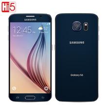 Разблокировать samsung Galaxy S6 G920F мобильного телефона Octa Core 3 ГБ Оперативная память 32 ГБ Встроенная память LTE WCDMA 16MP 5,1 дюймов Wi-Fi android смартфоне