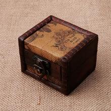 цена Vintage Wooden Map Storage Box Case Jewellery Cufflinks Chest Small Gift New Y4QB онлайн в 2017 году