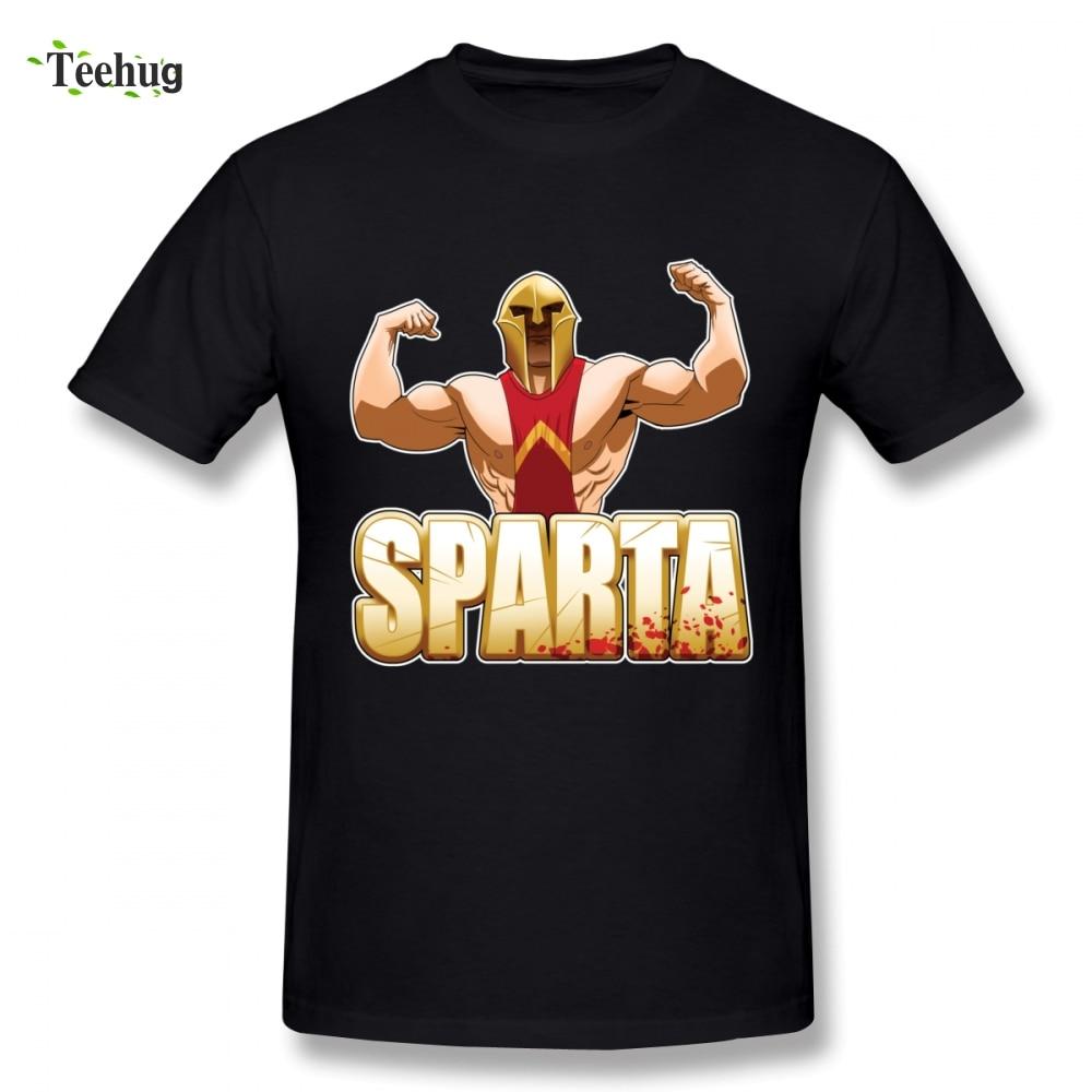 Sparta Short Sleeve Anime For Man Novelty Unique Design Round Neck Homme Tee Shirt