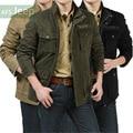 Novo 2017 marca de estilo militar jaqueta de inverno espessamento dos homens plus size 5xl clothing casaco e jaqueta casual ao ar livre dos homens/jk39