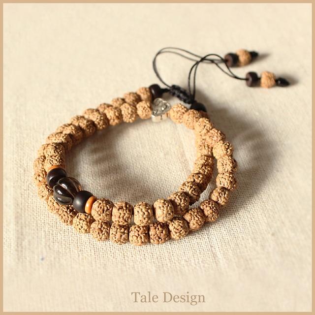 2016 новая тенденция Taledesign рудракши браслет эксклюзивные деревянные мала бусины ювелирные изделия ручной работы уникальный подарок тибетский Buddihism стиль