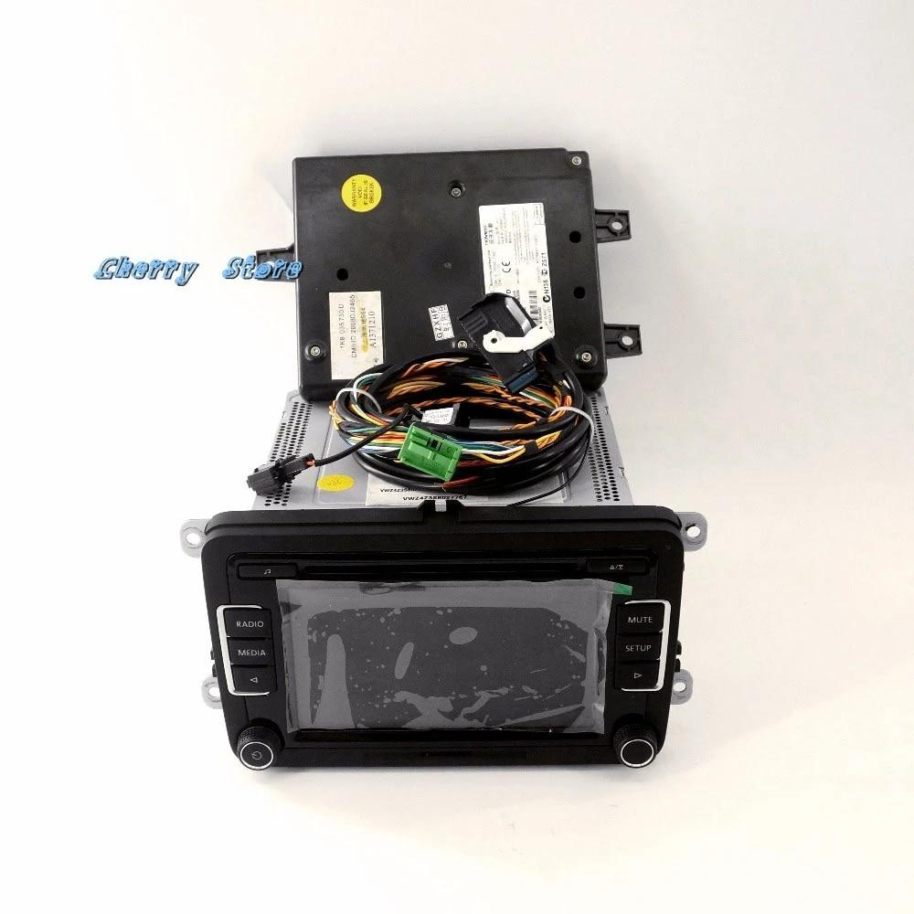 New RCD510 MP3 Car Radio USB 56D 035 190 A +9W2 Bluetooth Module+Bluetooth  Harness For VW Golf Jetta Tiguan RCD 510 1K8 035 730D|code|code 3code golf  - AliExpressAliExpress