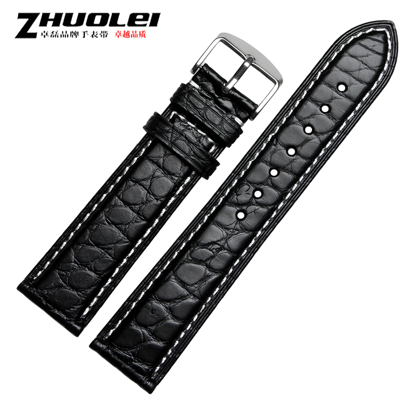 18mm 19mm 20mm 21mm 22mm high quality alligator leather watch band hot selling leather watchband Hot fashion leather watch strap 2017 hot selling relojes band white