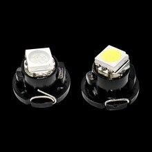 100X T4.7 LED 5050 SMD przyrząd samochodowy klastra lampa panelowa wskaźnik żarówki wskaźnik Dashboard czerwone światło niebieski zielony żółty biały 100 sztuk