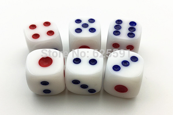 10pcs/set T&G Dice High Quality 14mm White Drinking Dice For Sale