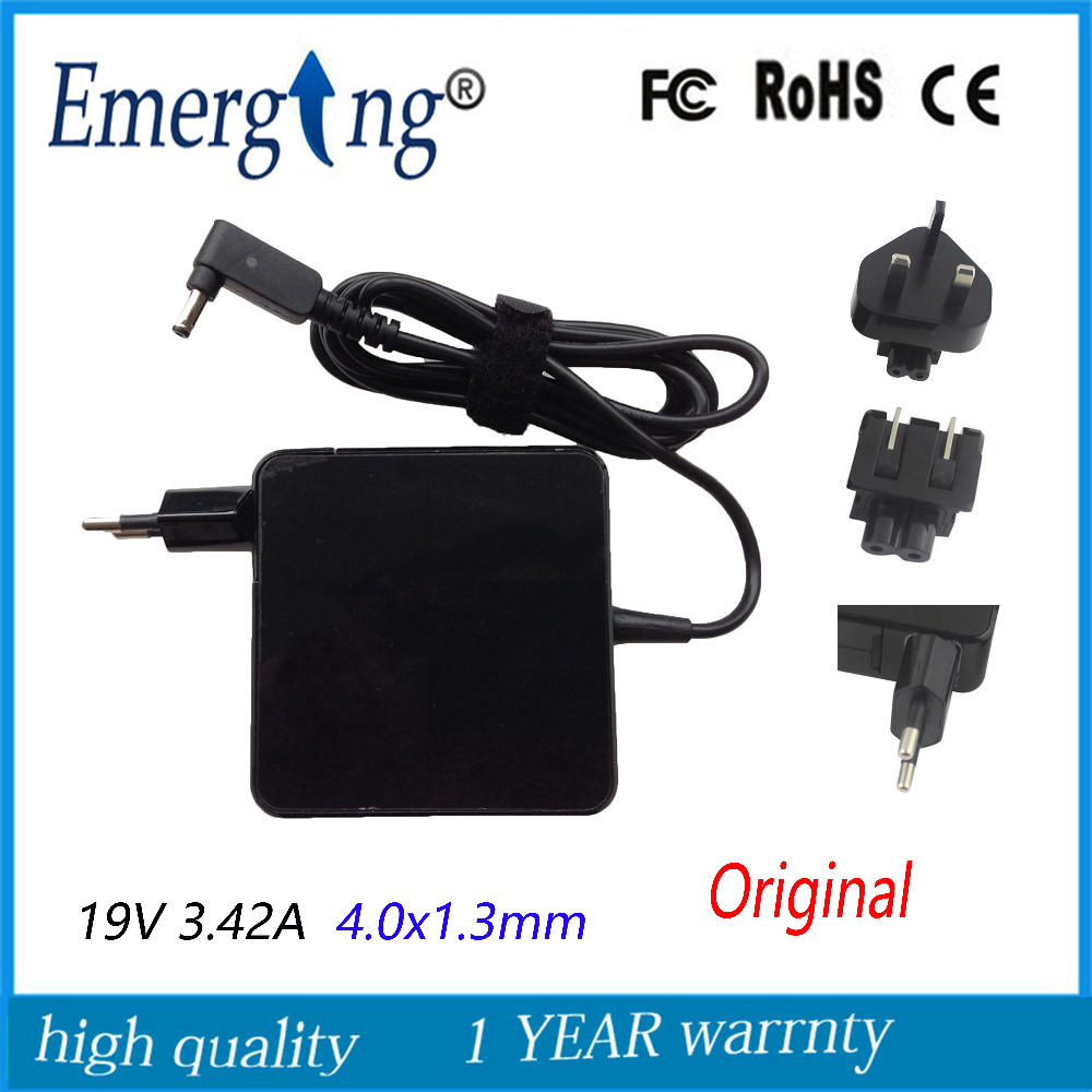 19V 3.42A 4.0x1.3mm Charger Power Supply Original AC Laptop Adapter For Asus UX30 UX42VS U38N ADP
