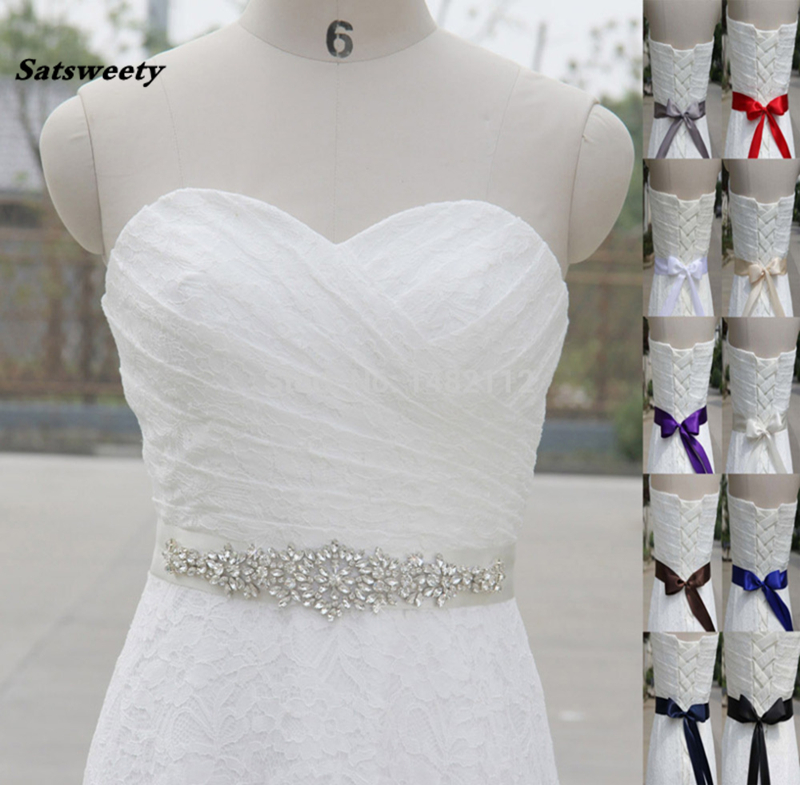 Sparkly Luxurious Crystal Rhinestone Czech Stones Formal Wedding Dress Belt New Arrival Handmade Pearls Stunning Bridal Sash