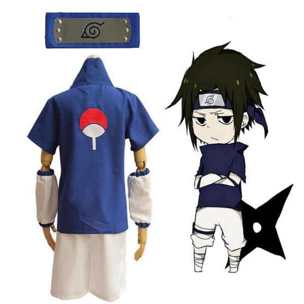 Japanese Anime N aruto Uchiha Itachi Cosplay Costume with Necklace Custom made