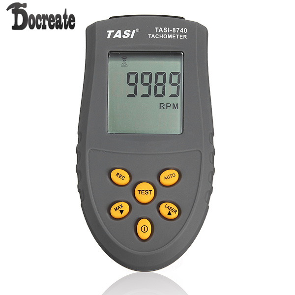 TASI-8740 Non-contact LCD Digital Laser Tachometer RPM Speed Gauge dt2234c digital laser rpm tachometer non contact measurement tool