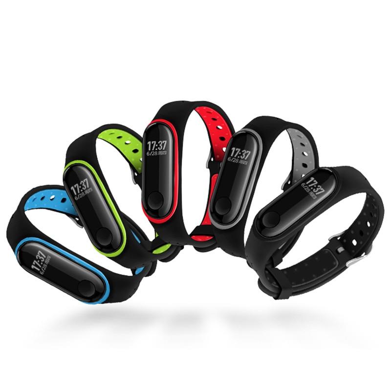Silicone Wrist Strap For Mi Band 3 4 Nfc Wrist Strap For Xiaomi Mi Band 3 Replacement Strap Bracelet Mi Band 4 3 Accessories
