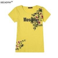 GECADYNY 2018 Summer Printed Flowers Colorful T Shirt Women Beautiful Spring Summer Shirt Brand Fashion Shirt